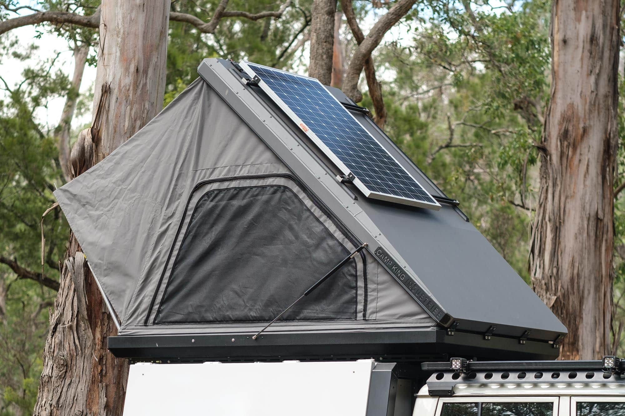 Camp King hardshell roof top tent